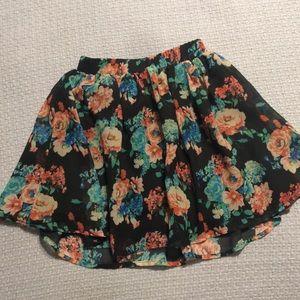 Children's Place floral skirt